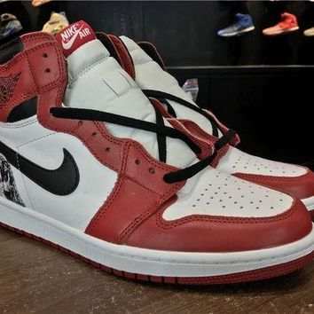 PEAPONVX Jacklish Custom Chicago Air Jordan 1 Retro Hi Og Crucial Last Shot For Sale