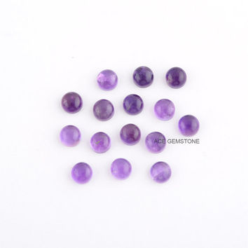Amethyst Round 4 mm to 8 mm-Loose Gemstone-Calibrated Cabochon Wholesale Supplier - 10 Pcs.