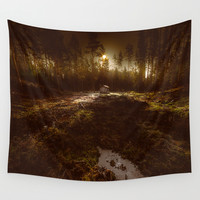Cabin fever Wall Tapestry by HappyMelvin