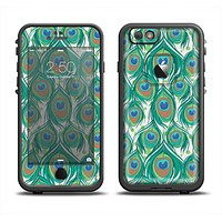 The Peacock Green Feather Bundle Apple iPhone 6/6s LifeProof Fre Case Skin Set