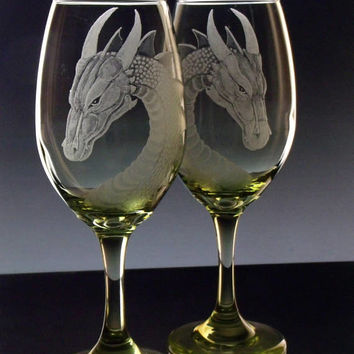 Dragon wine glasses , wineglass