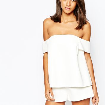 C/meo Collective Palisades Playsuit in White