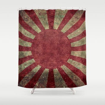 The imperial Japanese Army Ensign Flag Shower Curtain by Bruce Stanfield