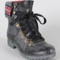 Miss Me Riley-2 Grunge Lace Up Ankle Bootie