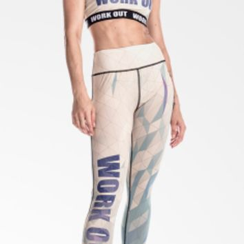 Zohra New Arrival Women Legging Diamond Shaped Lattice Printing Leggings Fashion Elegant High Waist Woman Pants