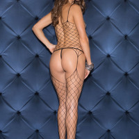 No Holding Back Large Scale Fishnet Bodystocking