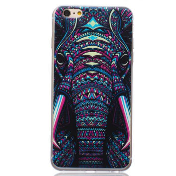 Unique Elephant Case Cover for iPhone 5s 5se 6s Plus Free Gift Box 44