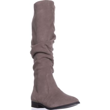 Steve Madden Beacon Tall Slouch Boots, Taupe Suede, 9 US