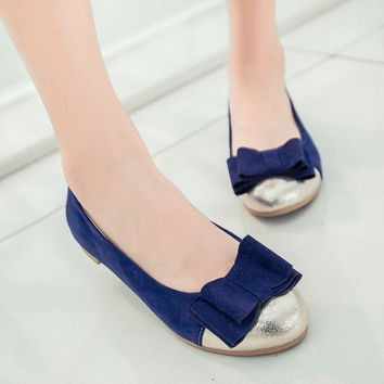 Women Flats Bow Loafers Ballet Shoes  5275