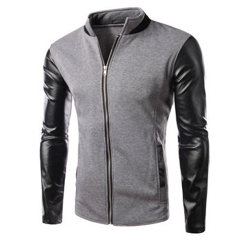 Korean Stylish Strong Character Mosaic Hoodies Men Jacket [6528749763]