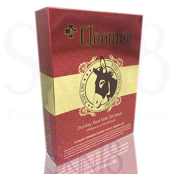 Cleomee Donkey Real Milk Oil Mask  (Whitening and Wrinkle Improvement) x 10pcs  *exp.date 07/18*