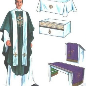 Simplicity 7950 Altar Cloths Vestment Chasuable Uncut Sewing Pattern