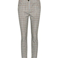 Plaid corduroy trousers