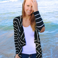 Elbow Patch Cardigan in Black