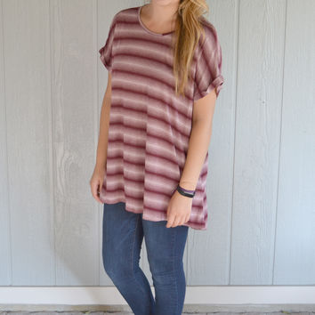 Round out the Best Striped Top: Burgundy