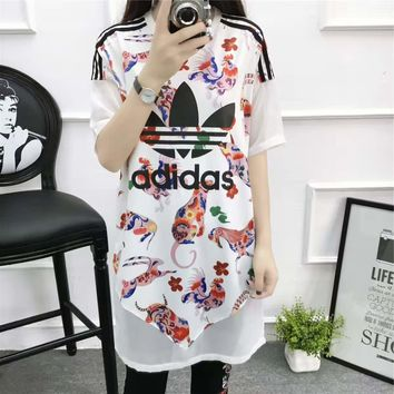 wanelu : Adidas£º Fashion casual lady dress