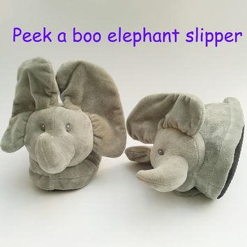 New Peek A Boo Elephant Slipper Toy, Plush Toy & Stuffed Animals Elephant Toy Home Slipper The Best Gift For Your Beloved Person