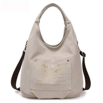 Women Canvas Hobo Tote Bags Casual Shoulder Bags Large Capacity Shopping Bags
