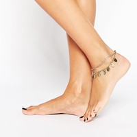 Love Rocks Coin 2 Row Anklet