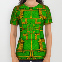 golden green and  sunshine pop-art All Over Print Shirt by Pepita Selles