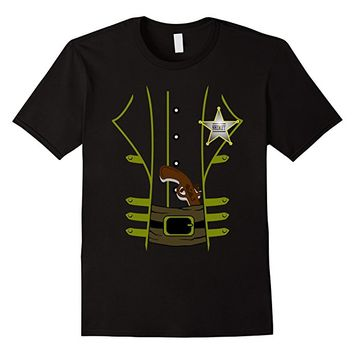 Western Sheriff Halloween Costume Tshirt - Men Women Youth