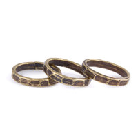 Antique Gold Hammered Knuckle Rings