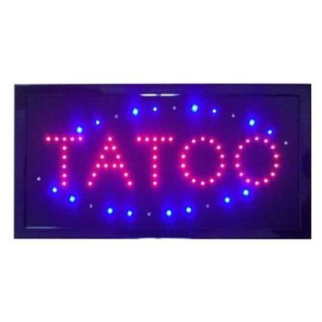 Tatoo Sign Neon Lights LED Animated Customers Attractive Sign 220V