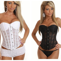 fashion Women sexy lingerie Underwear corsets Shapewear Gothic Overbust waistband Bustier Body Shaper = 4804878020
