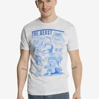 Disney Beauty And The Beast Beast Sketch T-Shirt