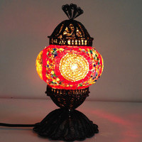 Golden Dreams Design Mosaic lamp with delicate hand crafted copper base, bedside lamp, Night lamp, lampshade, Turkish lamp, Midcentury light
