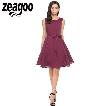 Zeagoo Women Chiffon Dress