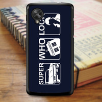 Doctor Who Tardis Sherlock Superwholock Art Nexus 5 Case