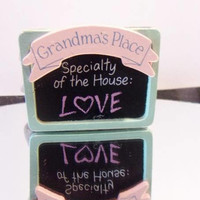 Vintage Kitchen Magnet Grandmas Place Specialty of the House: Love Retro Grandparents Day Kitchen Home Decor