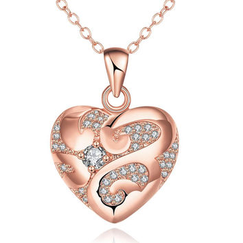 Rose Gold Plated Tiffany's Love Necklace