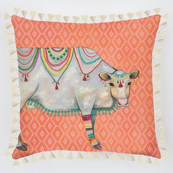 Queen Of The Pasture Pillow