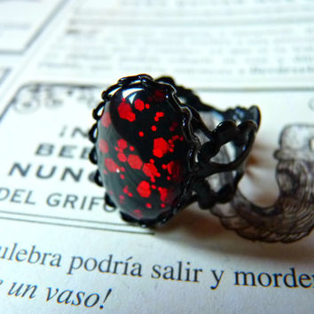 Dragon Blood Gothic Ring