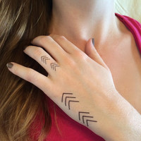 Small Chevron Temporary Tattoos