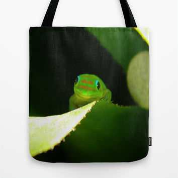 Smiling Gecko Tote Bag by Kelli Schneider