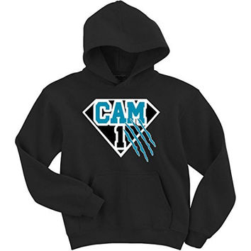 "Cam Newton Carolina Panthers ""SUPERMAN"" Hooded Sweatshirt ADULT LARGE"