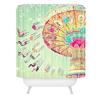 Shannon Clark Swinging Through Stars Shower Curtain