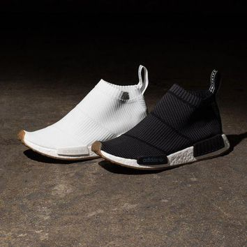 Best Online Sale Adidas NMD Mid City Sock Black / White Boost Sport Running Shoes Clas