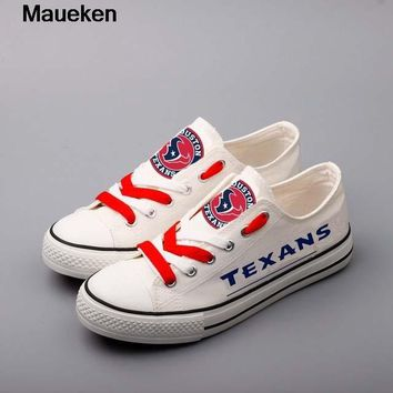 Newest 2018 2019 men women unisex Texans printed diy Shoes for houston fans gift size 35-44 chinese size