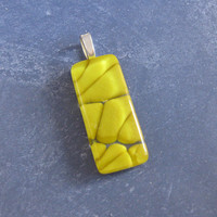 Yellow Glass Pendant, Modern Jewelry, Artisan Jewelry, Handcrafted Pendant, Fashion Jewelry - Harley - 4549 -4