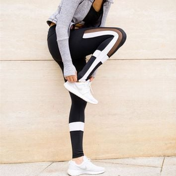 Black And White Patchwork Leggings/Yoga pants