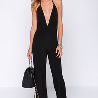 Faithfull the Brand Agenda Black Jumpsuit