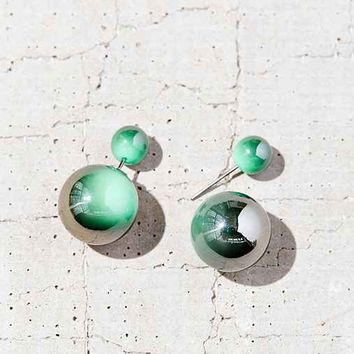 Marble Bauble Front/Back Earring