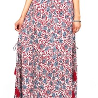 Vineyard Tassel Maxi Skirt
