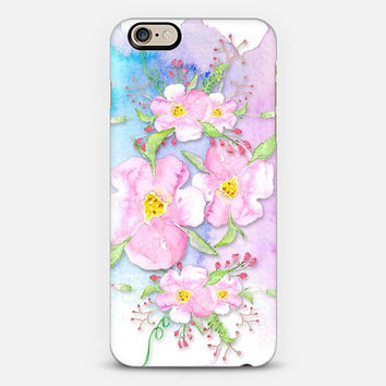Pastel pink watercolor flowers, purple,blue,Samsung S3,S4,S5 case, iphone4, 5, 6 case,ipad hard case,girly case, cute case,