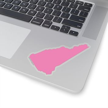 New Hampshire State Shape Sticker PINK