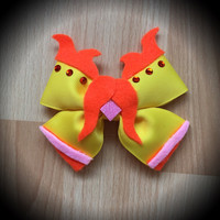 Adventure Time Flame Princess Character Inspired Yellow Hair Bow
